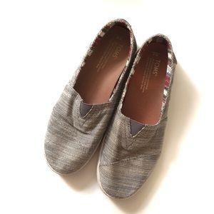 Toms Avalon Gray Slip On Sneakers